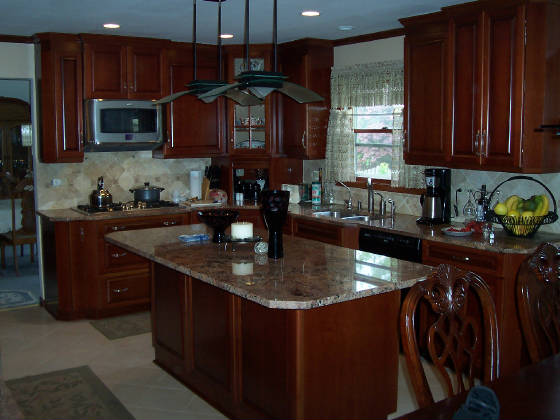 Finished kitchen photos for Photos kitchen designs